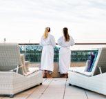 Guerlain Spa Members relaxing on sun terrace of Waldorf Astoria Berlin