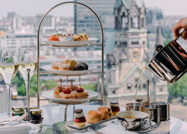 HIgh Tea at The Library Lounge at Waldorf Astoria Berlin